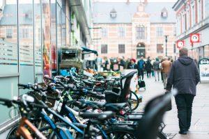 Parkiran sepeda yang rapi