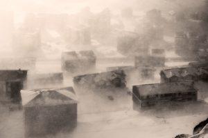 Penampakan badai salju di Nuuk, Photo credit; Mads Phil, VG